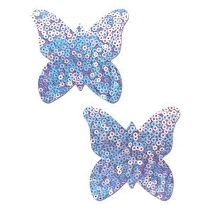 Pastease Purple Sequin Butterfly Nipple Pasties